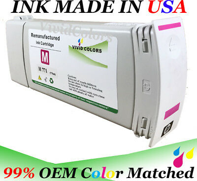 Remanufactured HP771 Z6200 Magenta B6Y17A HP771 Ink Cartridge