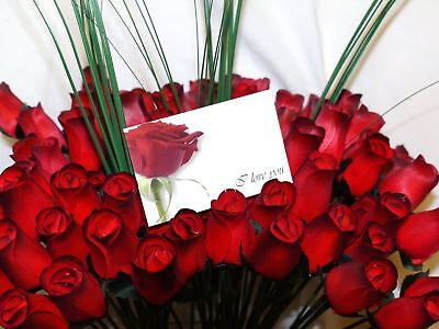 Wholesale Valentines Flowers 100Romantic Red Wooden Roses Mixed Box Gift Grasses