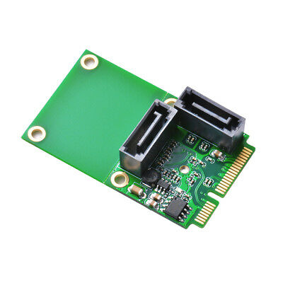 Mini PCI-E PCI Express to SATA 3.0 2-Port Convert Expansion Adapter Card AC696