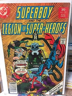 DC Comics Superboy and the Legion of Super Heroes #230 Aug 1977 VG condition
