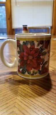 Large Vintage Christmas Mug Coffee Cup Hot Chocolate