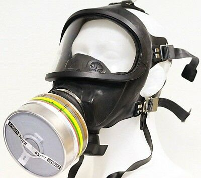 MSA Auer 3S gas mask with filter made in Germany funy gift airsoft masquerade