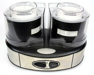 Cuisinart Duo Dual Ice Cream Sorbet Maker 2 Quart Black ICE-40 BK