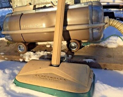ELECTROLUX VINTAGE MODEL G CANISTER VACUUM CLEANER  w/POWER HEAD - RARE