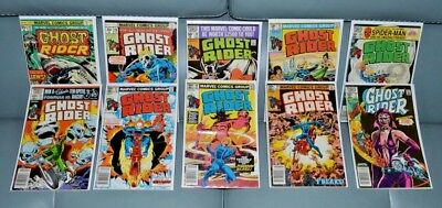 Ghost Rider Bronze Age lot of 10:  #16, 29, 48, 52, 63, 65, 67, 68, 70, 75