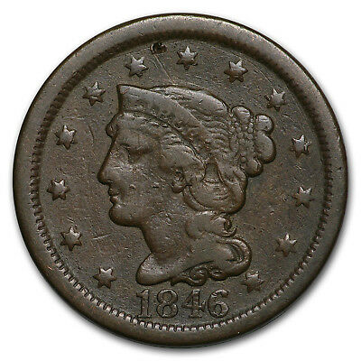 1846 Large Cent Tall Date VG - SKU#169482