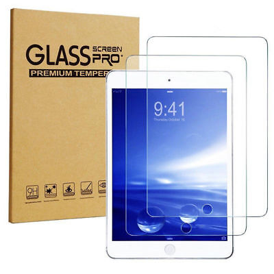 2 Pack Tempered Glass Screen Protector For Apple iPad 5 6 2018 Air 1 2 Pro 9.7""