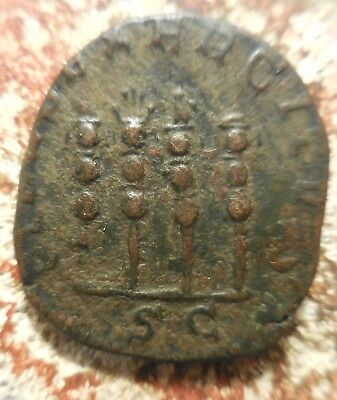 VF+! Philip I As,Rome, AD 244, 4 Standards! Ex Heritage Auction of Old Estate: