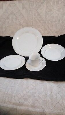 Tienshan Fine China Classic Gold Complete 5 piece setting for 2.  4 sets avail.