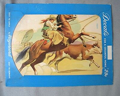 Vintage Decal Cowboy  - New Old Stock