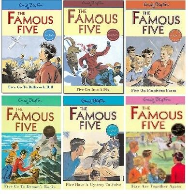 NEW SET of 6 x FAMOUS FIVE books 16-21 Enid Blyton 16 17 18 19 20 21  ADVENTURES