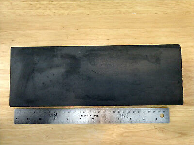Graphite Plate 12.75 x 4.5 inch 7/8 thick Sheet Marver Glass Blowing Fine grain