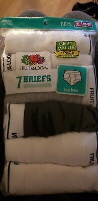 Fruit of the Loom, Boys, XL 18-20, 7 pack tag free Briefs