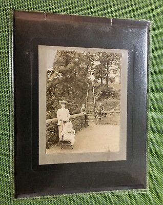 Rare Vintage C1905 Bolton Real Photograph Of The 63 Steps In Barrow Bridge