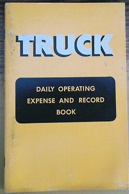 FORD Truck Daily Operating Expense Record Book Original OEM FoMoCo 1959 UN-USED