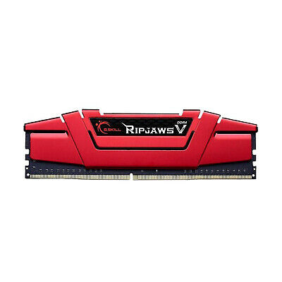 G.Skill Gaming DDR4 16GB 2x8 2666MHz Ripjaws V Red CL15 Desktop RAM Memory