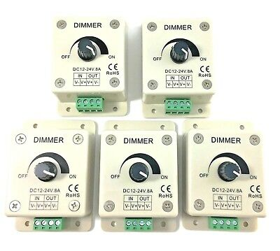 5 pack 12v led dimmer switch for low voltage lights flex strips fixtures PDM1-5P