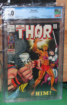 THOR 165  First Full Warlock MARVEL 1969 cgc 5.0  OW to W Pages Kirby and Lee