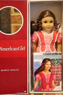 NEW NIB American Girl Marie Grace Retired Historical Doll with Book NRFB MINT!