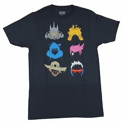 Overwatch Mens T-Shirt - Fighter Spray Heads Collection Of Six