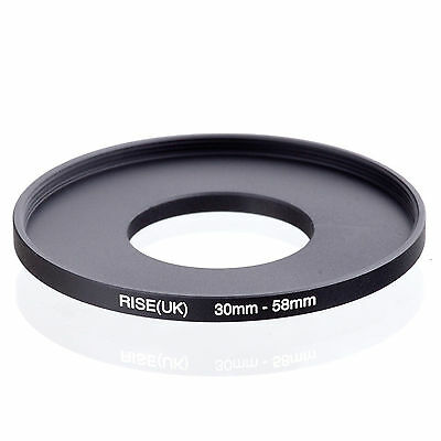 Camera 30mm Lens to 58mm Accessory Step Up Adapter Ring 30mm-58mm Black
