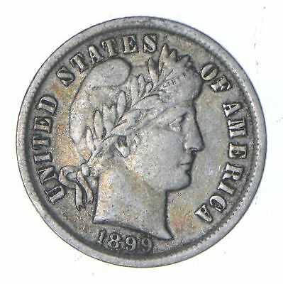 1899 Barber Silver Dime - Circulated *0153