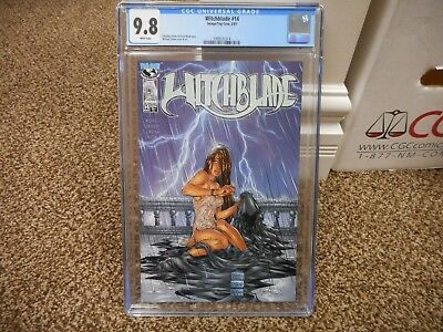 Witchblade 14 cgc 9.8 Image 1997 Michael Turner cover art MINT WHITE pg SEXY HOT