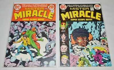 Mister Miracle Bronze Age lot of 2:  #15 & 16, Jack Kirby Art!  VF+ condition