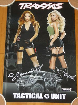 2017 TRAXXAS TRX-4 Tactical Unit Grid Girls signed SEMA Show Promo Poster
