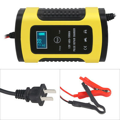 6A 12v Intelligent Smart Motorcycle Car Battery Pulse Charger Repair Type Auto