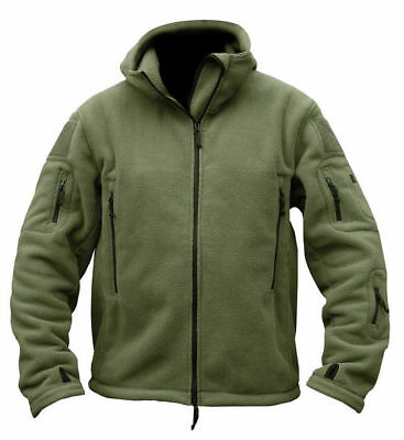 d8fd6377a49 Mens Fleece Jackets Military Outdoor Winter Coats Tactical Army Casual  Outwear