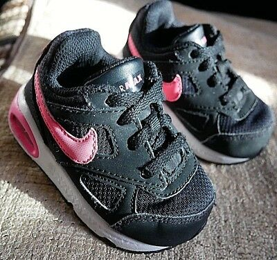 1690222945 Nike Air Max Black And Pink Baby Infants Trainers Shoes Uk Kids Size 3.5  Eu19.