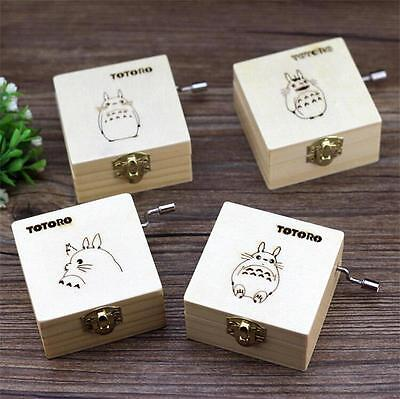 Collection Studio Ghibli Anime Totoro Wooden Music Box Figures Gift Funko POP