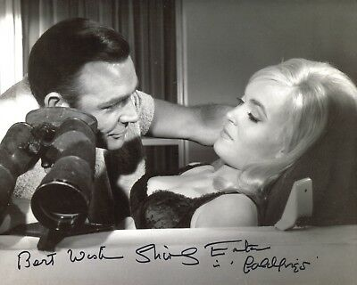 Bond girl Shirley Eaton signed Goldfinger 8x10 photo - with PROOF!