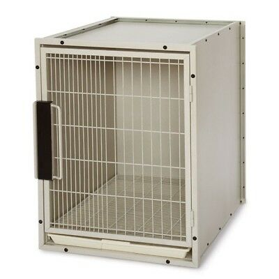Proselect Large Modular Kennel Cage with Removable Floor Grate - Sandstone Color