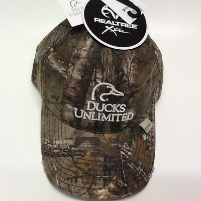 DUCKS UNLIMITED REALTREE Camo Distressed Cap New With Tags -  12.99 ... a614cb77d72a