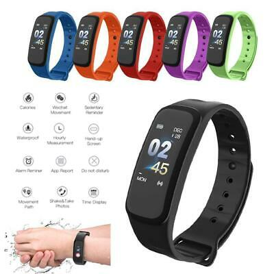C1 PLUS Bluetooth Waterproof Blood Pressure Heart Rate Monitor Smart Watch Band