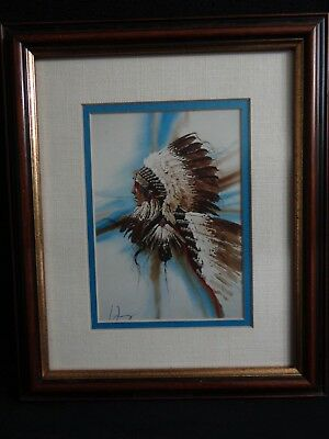 "Enoch Kelly Haney ""TRAIL OF VICTORIES"" Singed Print Native American Seminole"