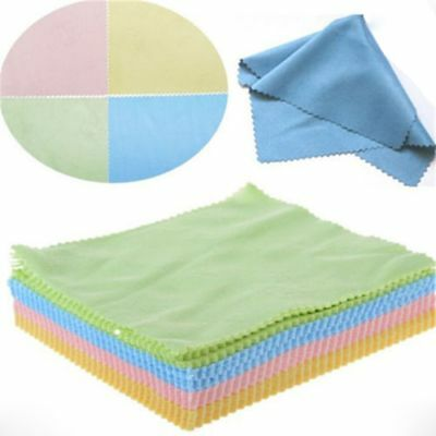 100Pcs Microfiber Phone Screen Camera Lens Glasses Cleaner Square Cleaning Cloth