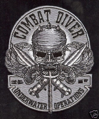 # COMBAT DIVER Patch Seal Team 3 Us Navy Veteran Udt Uss Mark Underwater Ops