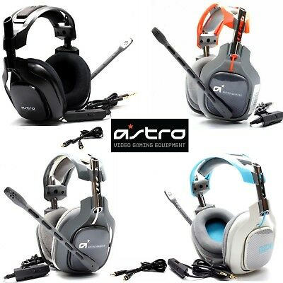 New Astro A40 Gaming Headset for Xbox Ps4 Ps3 & PC with Mic & Aux Cable