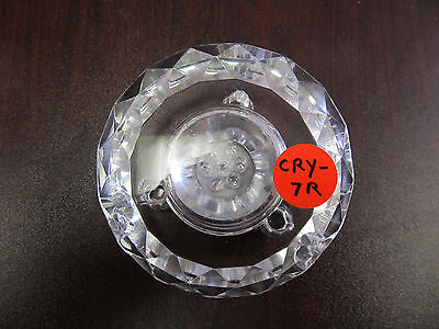 """3D Laser Crystal Glass Trophy -7 LED Lights 3""""  Stand Base Display w AC Adapter"""