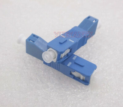 10pcs Optical Fiber Connector Flange Coupler SC Male To LC Female OPM Adapter