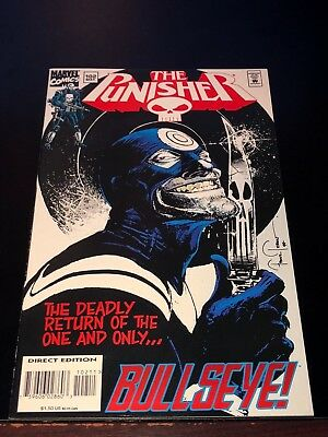 1994 THE PUNISHER #102 return BULLSEYE low print series end VF+ hard to find