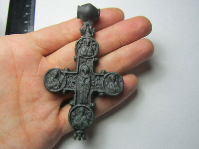 Engolpion reliquary cross. Metal detector finds.  100% original
