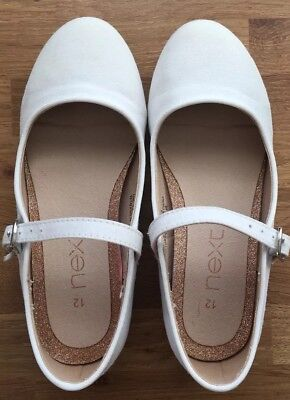 Next Immaculate Condition Girls Ivory Shoes Size 12