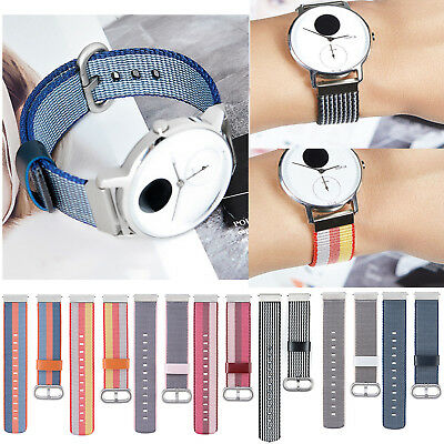 18mm Woven Nylon Loop Wrist Strap Band for NOKIA WITHING STEEL HR & Huawei Watch