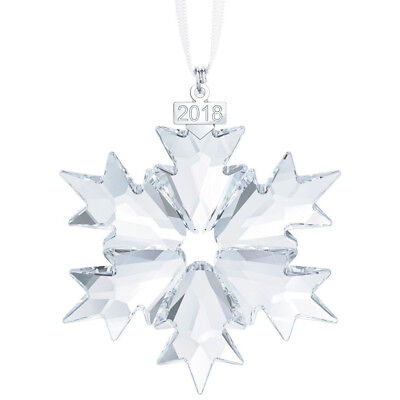 2018 Swarovski Little Snowflake Star Christmas Crystal Ornament 5349843 New!