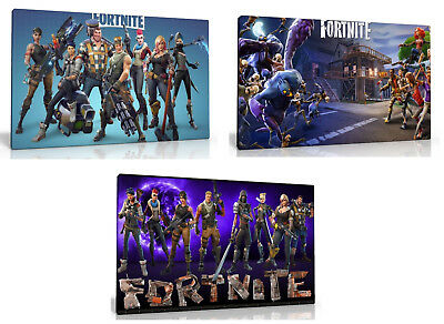 """Fortnite Canvas Wall Art Picture 10"""" X 16""""  , Choose From 3 Designs New Free P&p"""