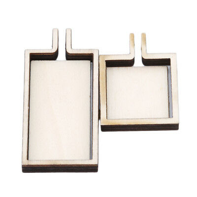 1PC Wooden Fixed Frame Embroidered Stretch Square Jewelry Cross-Stitch Frame EK
